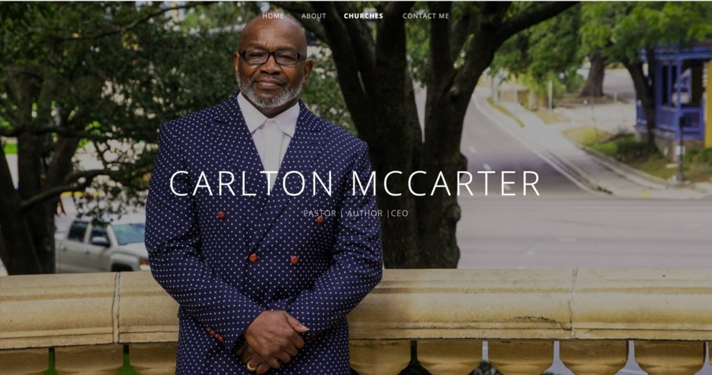 New Website Alert: Pastor Carlton G. McCarter